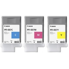 PFI-007 Canon Pigment Ink Tanks - 90ml  3-Pack Colors