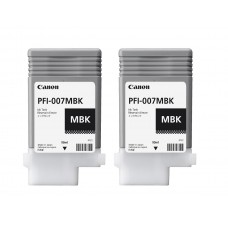 PFI-007MBK Canon Pigment Matte Black Ink Tanks - 90ml  2-Pack