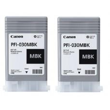 PFI-030MBK Canon Pigment Matte Black Ink Tanks - 55ml  2-Pack
