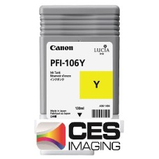 PFI-106Y Canon Dye Yellow Ink Tank - 130ml
