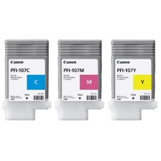 PFI-107 Canon Pigment Ink Tanks - 130ml 3-Pack Colors