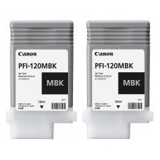 PFI-120MBK Canon Pigment Matte Black Ink Tanks - 130ml  2-Pack