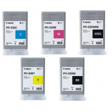 PFI-030 Canon Pigment Ink Tanks - 55ml  5-Pack