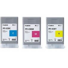 PFI-030 Canon Pigment Ink Tanks - 55ml  3-Pack Colors