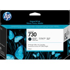 HP Matte Black #730 Ink Cartridge - 300ml - P2V71A