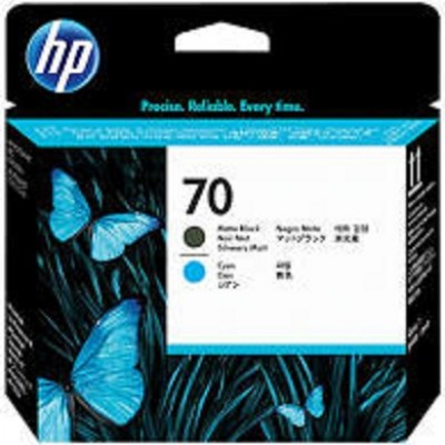 HP Matte Black & Cyan #70 PrintHead - C9404A