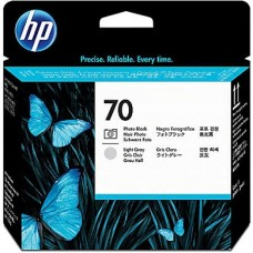 HP Photo Black & Lt Gray #70 PrintHead - C9407A