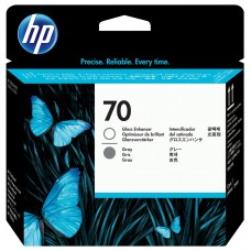 HP Gloss Enhancer & Gray #70 PrintHead - C9410A
