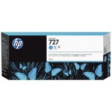 HP Cyan #727 Ink Cartridge - 300ml - F9J76A