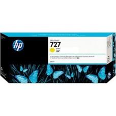 HP Yellow #727 Ink Cartridge - 300ml - F9J78A