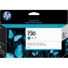 HP Cyan #730 Ink Cartridge - 130ml - P2V62A