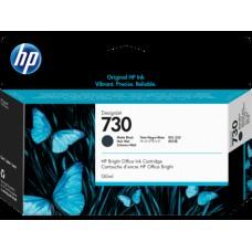 HP Matte Black #730 Ink Cartridge - 130ml - P2V65A
