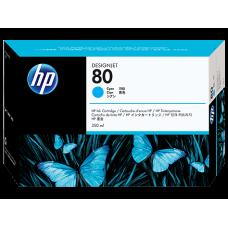HP Cyan #80 Ink Cartridge for DesignJet 1000 Series - 350ml, C4846A