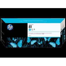 HP Cyan #81 Ink Cartridge for DesignJet 5000 Series - 680ml - DYE, C4931A