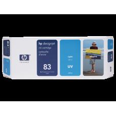 HP Cyan #83 Ink Cartridge for DesignJet 5000 Series - 680ml - UV, C4941A