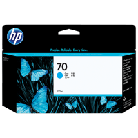 HP Cyan #70 Ink Cartridge - 130ml - C9452A