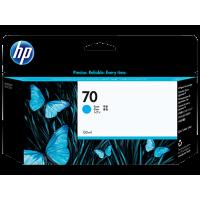 HP Cyan #70 Ink Cartridge - 130ml