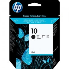 HP Black #10 Ink Cartridge for DesignJet 500 & 800 - 69ml, C4844A