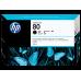 HP Black #80 Ink Cartridge for DesignJet 1000 Series - 350ml, C4871A