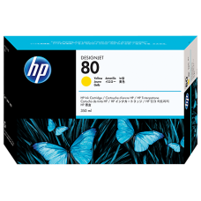 HP Yellow #80 Ink Cartridge for DesignJet 1000 Series - 350ml, C4848A