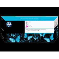 HP Magenta #81 Ink Cartridge for DesignJet 5000 Series - 680ml - DYE, C4932A