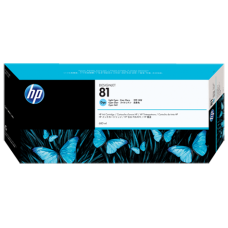 HP Lt Cyan #81 Ink Cartridge for DesignJet 5000 Series - 680ml - DYE, C4934A