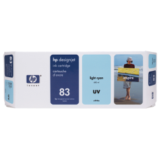 HP Lt Cyan #83 Ink Cartridge for DesignJet 5000 Series - 680ml - UV, C4944A