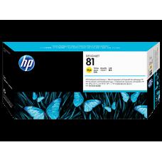 HP Yellow #81 PrintHead for DesignJet 5000 Series - DYE, C4953A