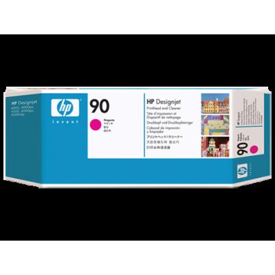 HP Magenta #90 PrintHead & Cleaner