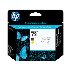 HP Matte Black & Yellow #72 PrintHead - C9384A