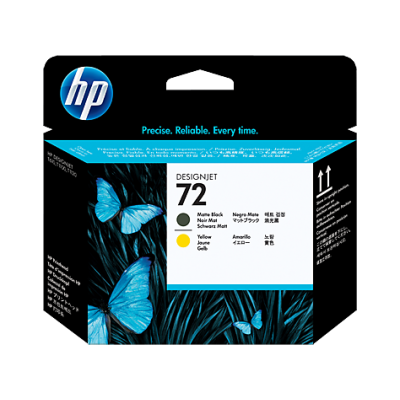 HP Matte Black & Yellow #72 PrintHead