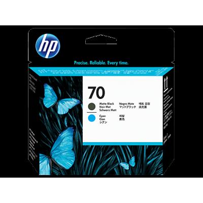 HP Matte Black & Cyan #70 PrintHead